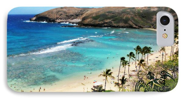 IPhone Case featuring the photograph Hanauma Bay With Turtle by Mindy Bench