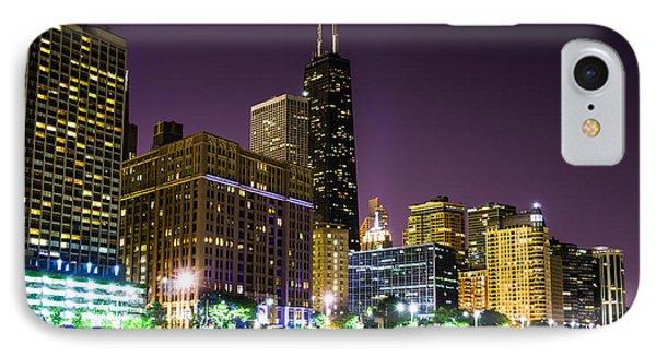 Hancock Building With Dusk Chicago Skyline Phone Case by Paul Velgos