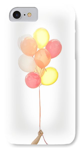 Hand Holding Balloons IPhone Case by Diane Diederich