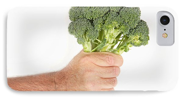Hand Holding Broccoli Phone Case by James BO  Insogna