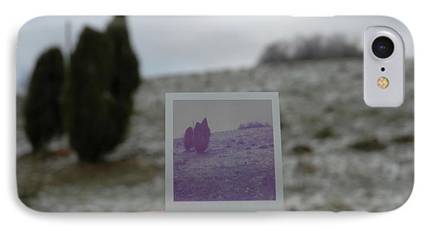 Hand Holding Polaroid - Concept Image For Memory Or Time Or Past Phone Case by Matthias Hauser