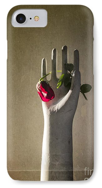 Hand Holding Rose Phone Case by Terry Rowe