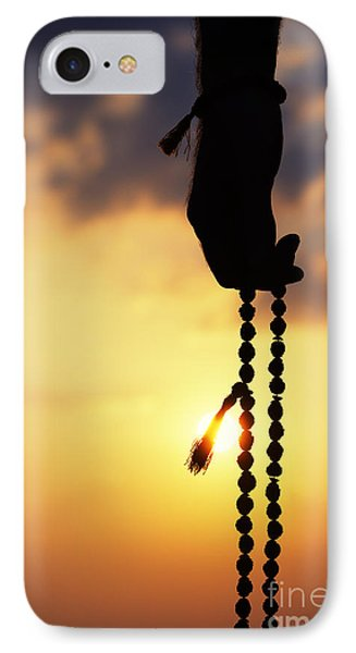 Hand Holding Rudraksha Beads IPhone Case by Tim Gainey