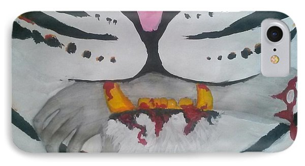 Hand In Mouth Phone Case by Kendya Battle