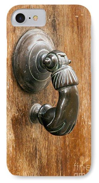 Hand Knocker Phone Case by Bob Phillips