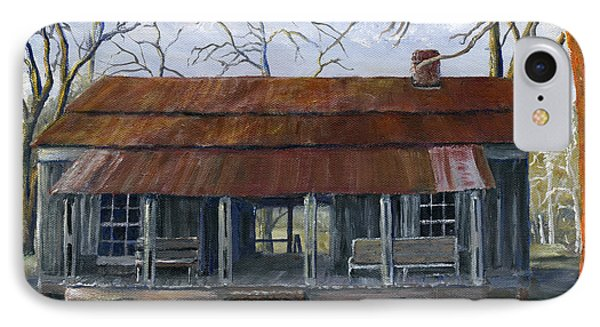 Hand Painted Art Dogtrot House In Pleasant Hill Louisiana Phone Case by Lenora  De Lude