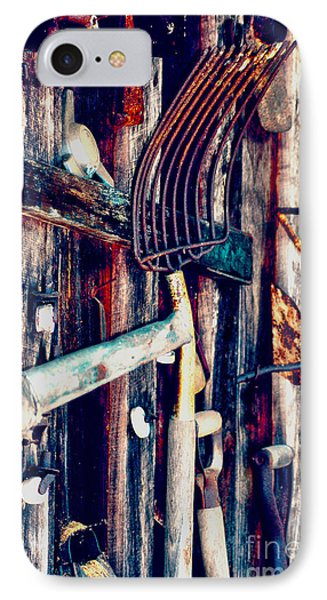 IPhone Case featuring the photograph Handles And The Pitchfork by Lesa Fine