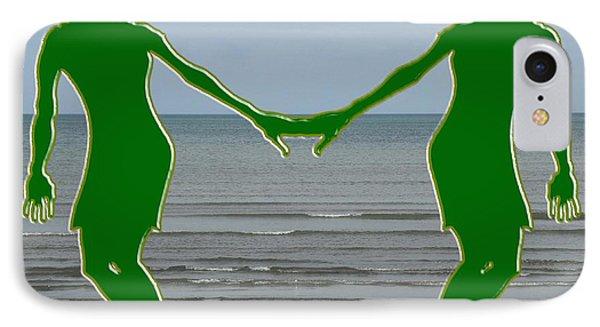Hands Across The Ocean IPhone Case