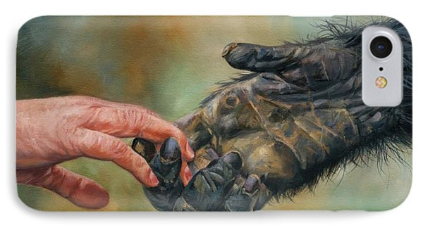 Hands IPhone Case by David Stribbling