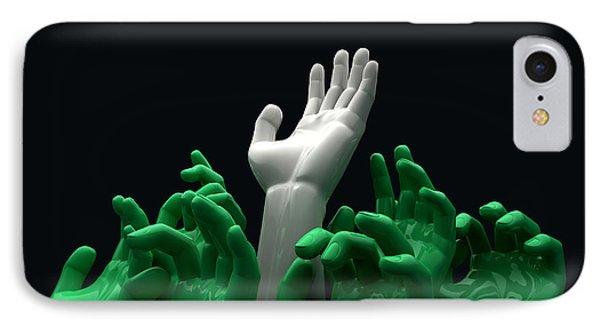 Hands Reaching Skyward IPhone Case by Allan Swart