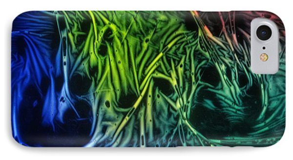 chemiluminescence photography Handprint IPhone Case