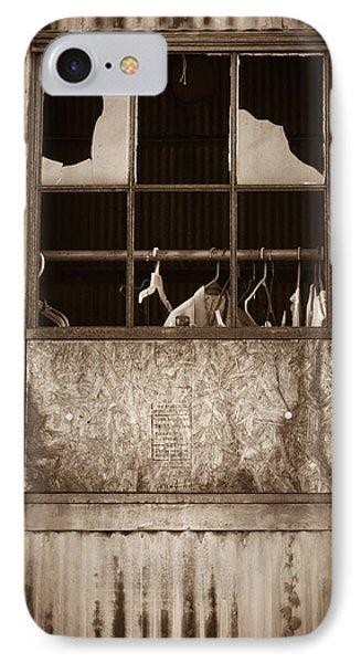 Hangers In The Window Phone Case by Randy Bayne