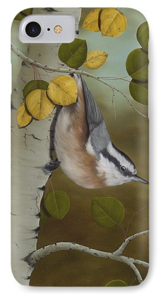 Hanging Around-red Breasted Nuthatch IPhone Case