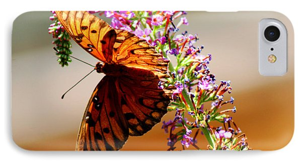 Hanging Butterfly IPhone Case by Marty Gayler