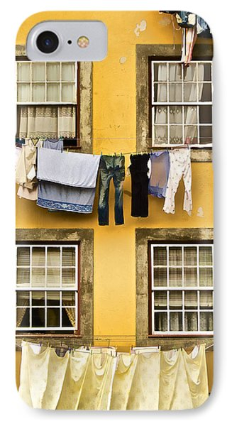 Hanging Clothes Of Old World Europe Phone Case by David Letts