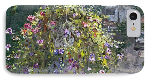 Hanging Flowers From Balcony IPhone Case by Ylli Haruni