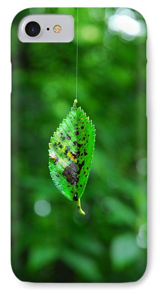 IPhone Case featuring the photograph Hanging On By A Thread by Lena Wilhite