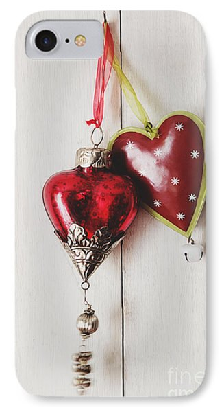 Hanging Ornaments On White Background IPhone Case by Sandra Cunningham