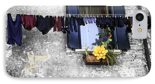 Hanging Out To Dry In Venice 2 Phone Case by Madeline Ellis