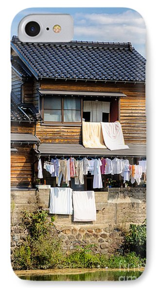 Hanging Out To Dry - Laudry Day In Japan Phone Case by David Hill