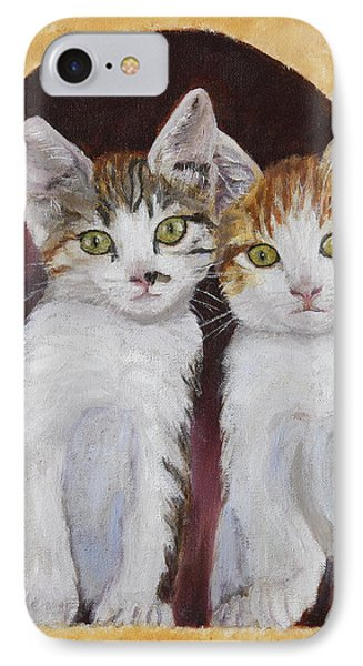 Hanging Out Together IPhone Case by Alan Mager