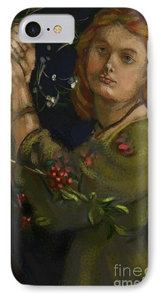 Hanging The Mistletoe IPhone Case by Carrie Joy Byrnes