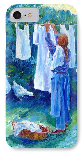 Hanging The Whites  Phone Case by Trudi Doyle