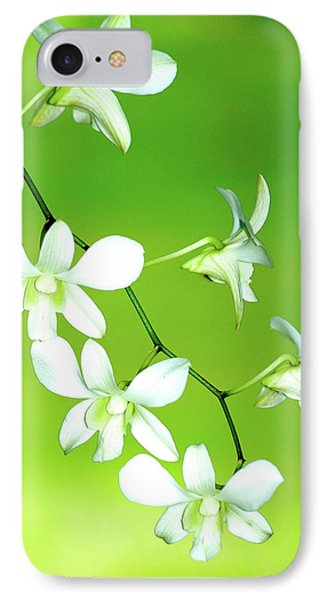 IPhone Case featuring the photograph Hanging White Orchids by Lehua Pekelo-Stearns