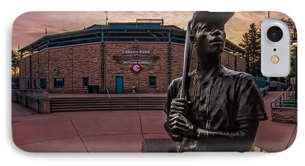 Hank Aaron Statue IPhone Case by Tom Gort