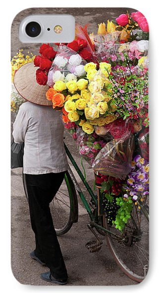 Hanoi Flowers 01 IPhone Case by Rick Piper Photography