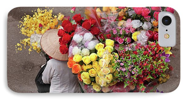 Hanoi Flowers 02 IPhone Case by Rick Piper Photography