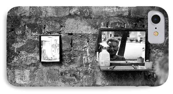 Hanoi Street Barber IPhone Case by Dean Harte