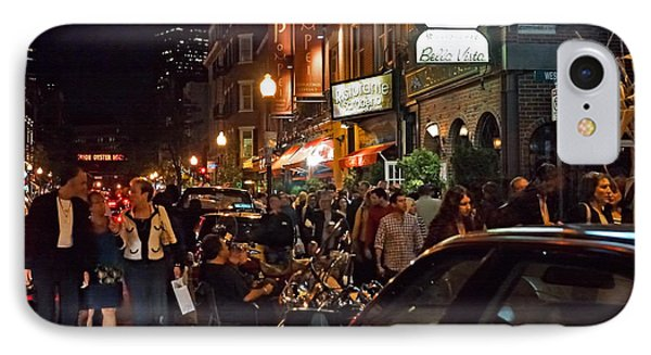 Hanover Street Nights - Boston Phone Case by Joann Vitali