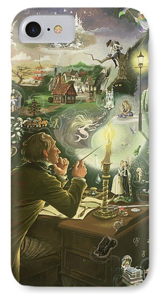 Hans Christian Andersen IPhone Case by Anne Grahame Johnstone