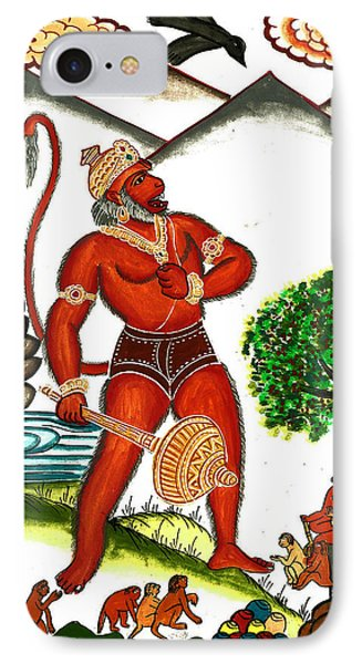 Hanuman Phone Case by Ashok Kumar