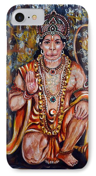 IPhone Case featuring the painting Hanuman by Harsh Malik