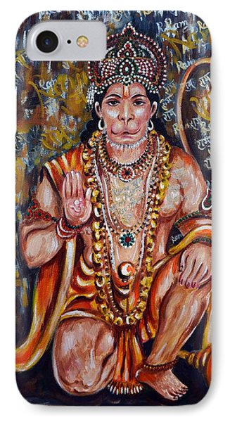 Hanuman IPhone Case by Harsh Malik