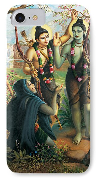 Hanuman Meeting Ram And Laxman IPhone Case