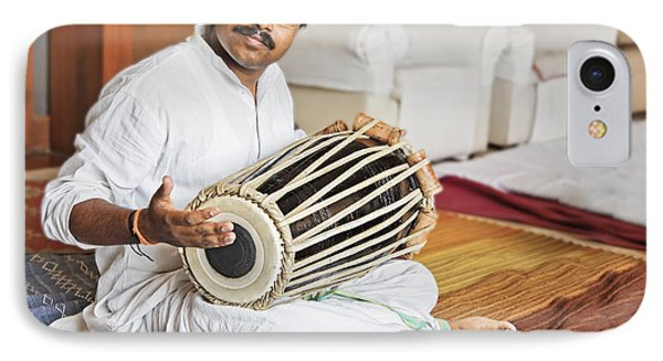 Hanumant Ghadge Tabla Accompaniment At Private Party IPhone Case by Kantilal Patel