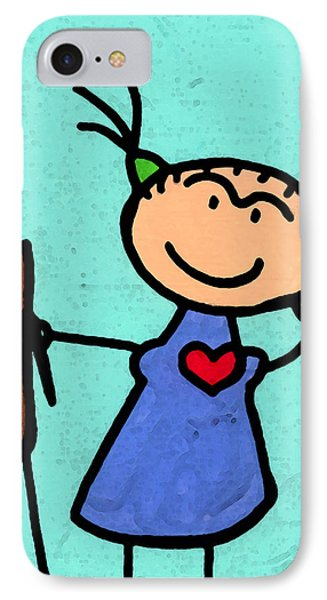 Happi Arte 4 - Frida Kahlo Artist IPhone Case by Sharon Cummings