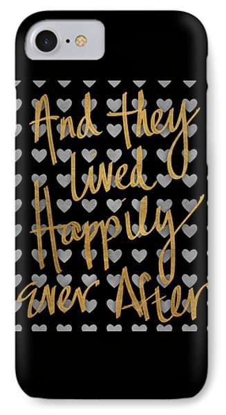 Happily Ever After Pattern IPhone Case