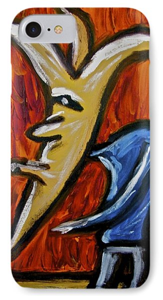 IPhone Case featuring the painting Happiness 12-001 by Mario Perron