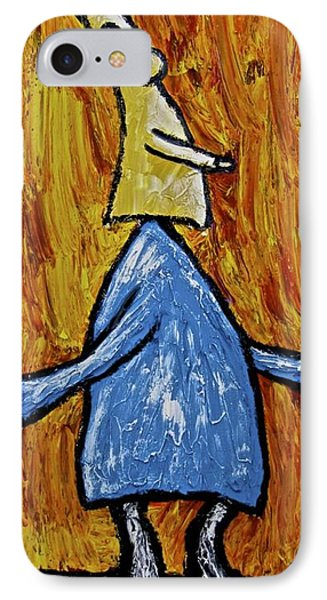 IPhone Case featuring the painting Happiness 12-004 by Mario Perron
