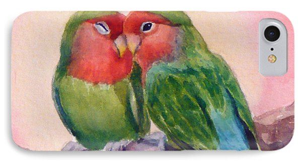 Happiness Forever Lovebirds IPhone Case by Janet  Zeh