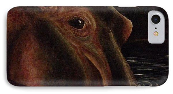 Happy As A Hippo IPhone Case by K Simmons Luna