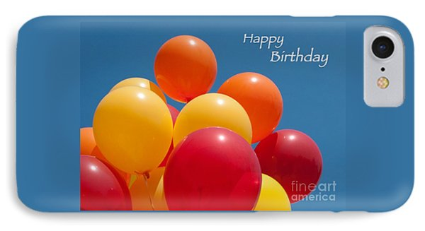 Happy Birthday Balloons Phone Case by Ann Horn