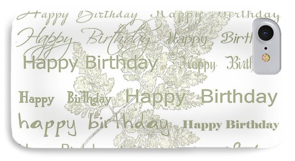 IPhone Case featuring the photograph Happy Birthday Card by Sandra Foster