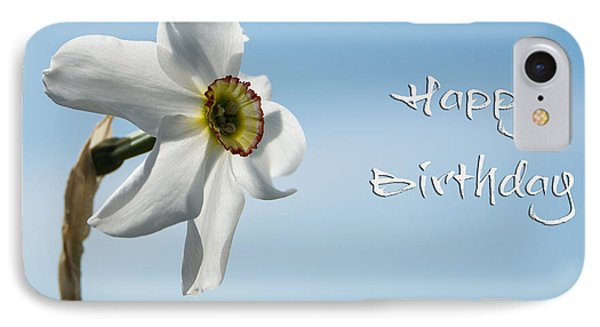 Happy Birthday Daffodil IPhone Case by Michele Wright