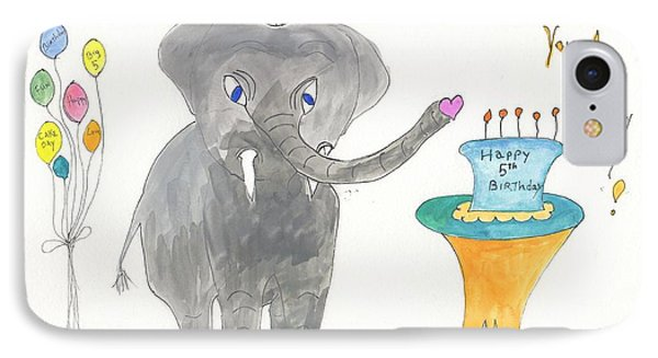 Happy Birthday From Elephoot IPhone Case by Helen Holden-Gladsky