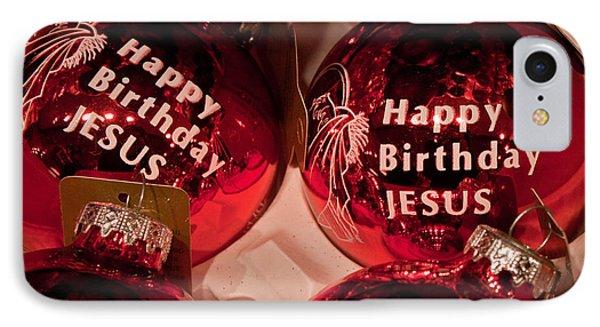 Happy Birthday Jesus IPhone Case